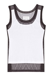 Maison Martin Margiela Maison Margiela Cotton Mesh Panel Tank Top Multicolor