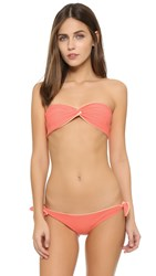 Solid And Striped Grace Bandeau Bikini Top Coral