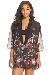 Women's Ted Baker London 'Shadow Flora' Open Front Cover Up