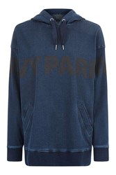 Ivy Park Oversized Denim Hoodie By