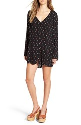 Billabong Women's 'Moongazer' Print Woven Dress Off Black
