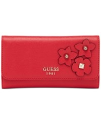 Guess Liya Slim Clutch Wallet Red