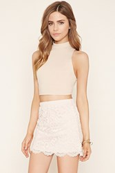 Forever 21 Scalloped Floral Lace Skirt