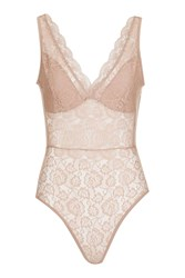 Topshop Lace Mesh Body Nude