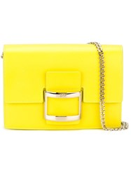 Roger Vivier Chain Strap Shoulder Bag Yellow And Orange