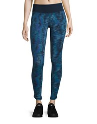 New Balance Patterned Athletic Leggings Galaxy Tech Print