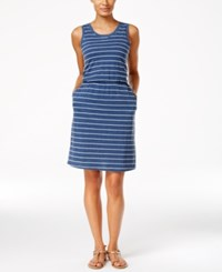 G.H. Bass And Co. Striped Sleeveless Dress Midnight Combo