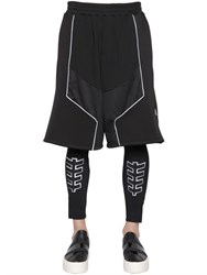 Dirk Bikkembergs Db1 Techno And Cotton Jogging Shorts