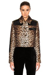 Givenchy Leopard Printed Grain De Poudre Jacket In Neutrals Animal Print Neutrals Animal Print