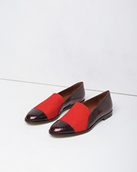 Band Of Outsiders Brogued Loafer Prune