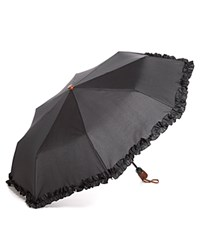 Bloomingdale's Ruffle Umbrella Black