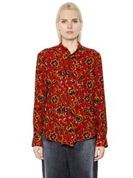 Y's Floral Jacquard Wool Shirt