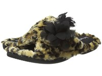 Foot Petals Adjustable Slide With Flower Leopard Women's Slippers Animal Print