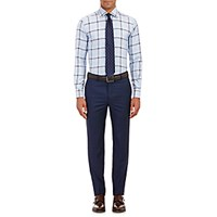 Etro Men's Glen Plaid Jacquard Dress Shirt Blue