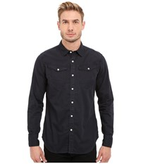 G Star Arc 3D Long Sleeve Shirt In Lightweight Lopp Overdye Imperial Blue Mazarine Blue Men's Clothing Black