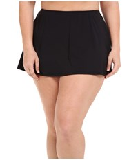 Michael Michael Kors Logo Solids Skirted Bottom Plus Black Women's Swimwear