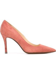 L'autre Chose Mid Heel Pumps Pink And Purple
