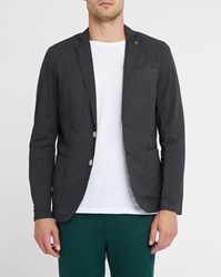 Scotch And Soda Black Unlined Washed Cotton Jacket