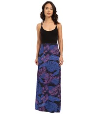 Hurley Ruby Maxi Dress Hyper Cobalt Women's Dress Black