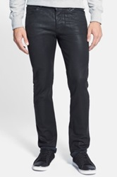 Surface To Air Straight Leg Coated Denim Jeans Black