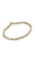 Ginette_Ny Fool's Gold Faceted Bracelet Pyrite