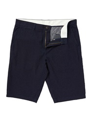 Linea Aster Flat Front Shorts With Print Detail Indigo