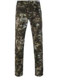 Versus Camouflage Lion Print Trousers Green