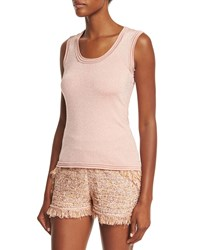 M Missoni Scoop Neck Star Stitch Tank Pink