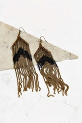 Urban Outfitters Beaded Fringe Drop Earring Gold