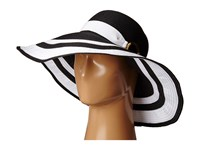 Lauren Ralph Lauren Paper Straw Bright Natural Sun Hat Black Pearl Traditional Hats