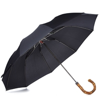 London Undercover Whangee Telescopic Umbrella Black