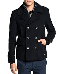 Scotch And Soda Classic Caban Double Breasted Coat Night