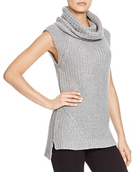 Dylan Gray Sleeveless Chunky Cowl Neck Sweater Nickel