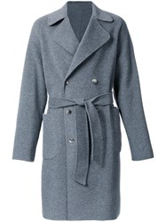 H Beauty And Youth. Reversible Polo Coat Grey