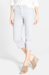 Nydj 'Ariel' Stud Trim Stretch Crop Jeans Petite Gray