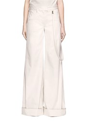 Rosie Assoulin Cotton Twill Wide Leg Pants White