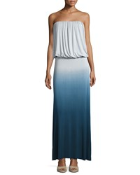 Young Fabulous And Broke Young Fabulous And Broke Sydney Strapless Ombre Maxi Dress Cobalt Ombre