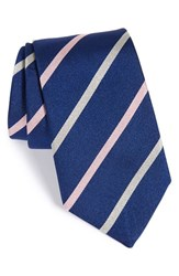 Gitman Brothers Vintage Men's Gitman Stripe Silk Tie Navy