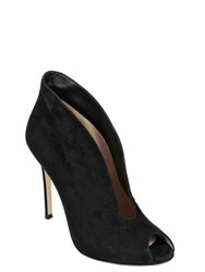 Gianvito Rossi 100Mm Vamp Open Toe Suede Boots