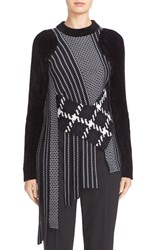 3.1 Phillip Lim Women's Draped Jacquard And Chenille Sweater