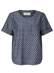 John Lewis Collection Weekend By Ditsy Print Denim Top Indigo