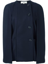 Vanessa Bruno Athe Off Centre Buttons Jacket Blue