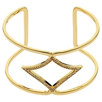 Melissa Odabash Plated Crystal Open Cuff Gold