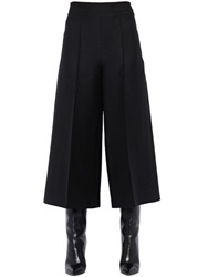 Valentino Cropped Wide Leg Crepe Pants