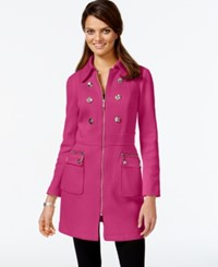 Inc International Concepts Petite Embellished Trench Coat Only At Macy's Berry Ice