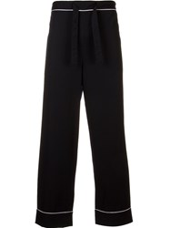 H Beauty And Youth. Drawstring Straight Trousers Blue