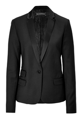 Zadig And Voltaire Wool Blend Tuxedo Blazer
