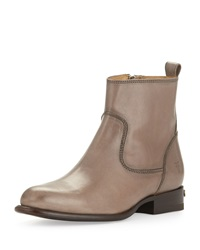 Danielle Short Leather Ankle Boot Gray Frye