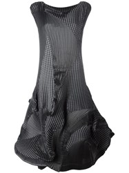 Issey Miyake Ribbed Effect Full Dress Grey