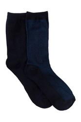 Shimera Pillow Sole Crew Socks Pack Of 2 Blue